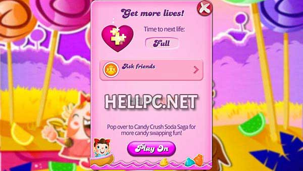 Full Lives in Candy Crush get unlimited lives