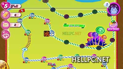 Touch anywhere on Candy Crush Game get unlimited lives