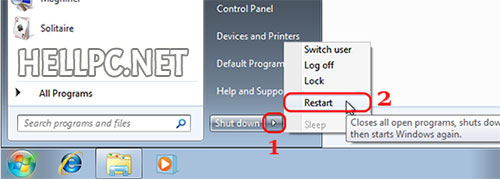 Restart your PC to boot from installation media