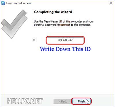 Note down TeamViewer ID to remotely access your computer and files
