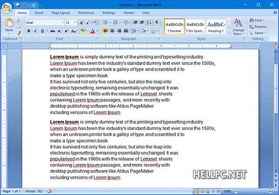 Copy and Paste the Text with Line breaks in MS word document