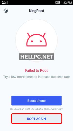 Try Rooting again if Failed