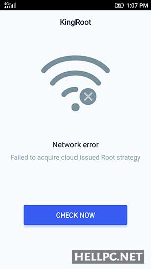 Root Failed - Network Error - Root Android Phone without PC