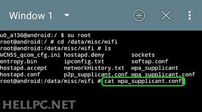 View Saved Wi-Fi passwords in wpa_supplicant.conf File