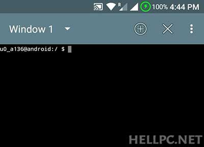Launch Terminal or Termux on your Android Phone