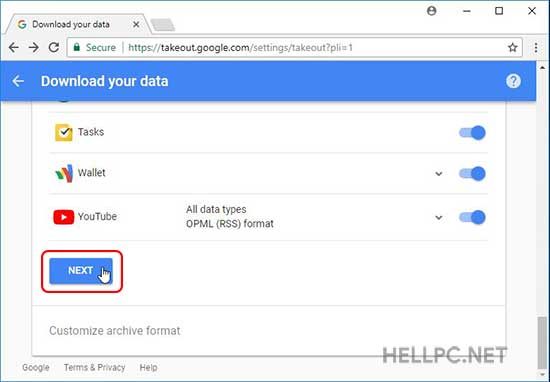Google knows - download your data from google