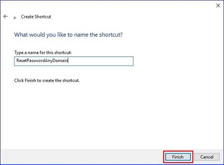 Provide the name for shortcut