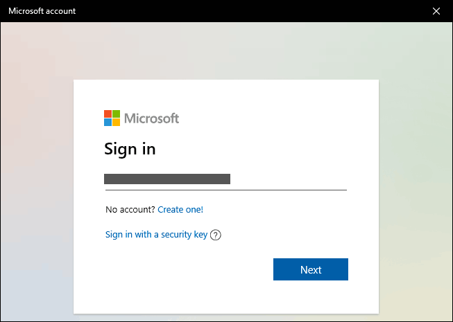 Sign In With Your Microsoft Account In Windows 10