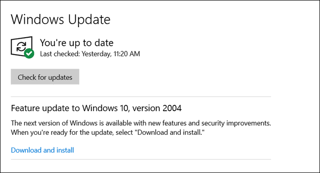 Check For Windows Update After Fixing Windows Update Errors