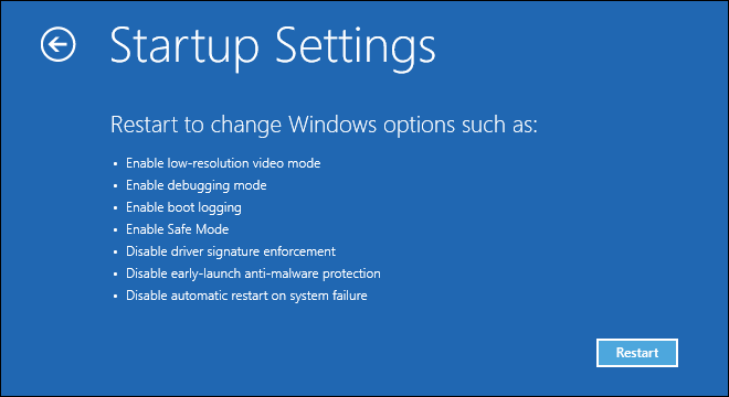 Click On Restart Button To Start Windows Into Advanced Options For Safe Mode