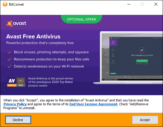 Decline Optional Offers To Avoid Bloatware