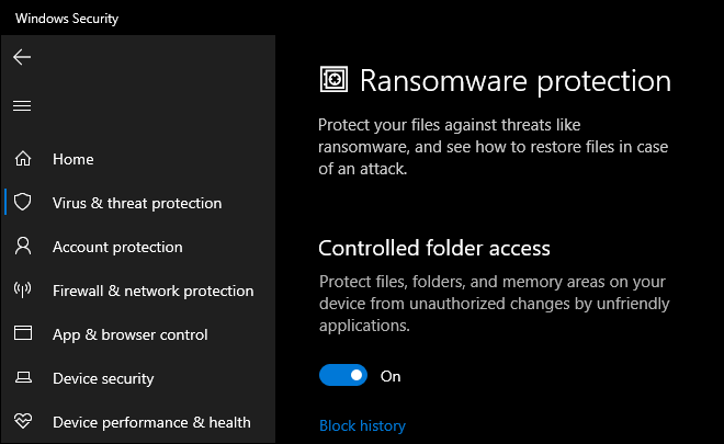 Enable Controlled Folder Access To Protect Your Windows 10 From Ransomware Attack