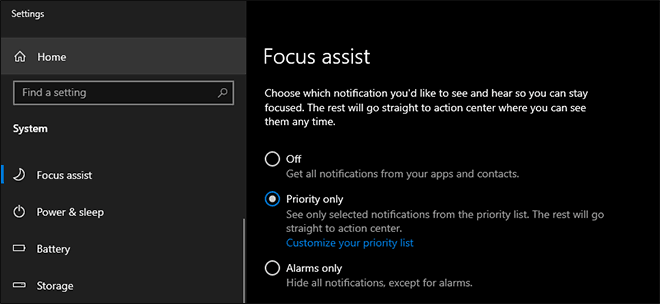 Enable Focus Assist In Windows 10 To Avoid Unnecessary Notifications