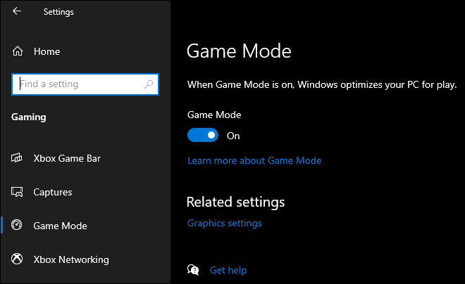 Enable Game Mode To Improve Gaming Performance In Windows 10