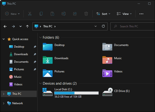 File Explorer Opens To This PC
