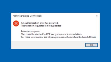How To Fix Credssp Encryption Oracle Remediation Error In Remote Desktop Connection