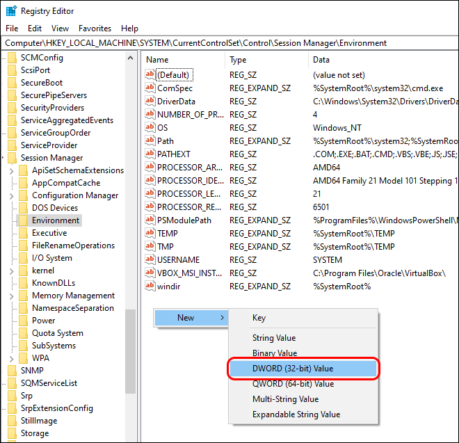 In Registry Editor Create Dword In Session Manager to display USB devices that freezes your computer