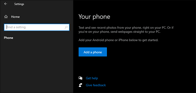 Link Your Android Phone Or Iphone With Windows 10