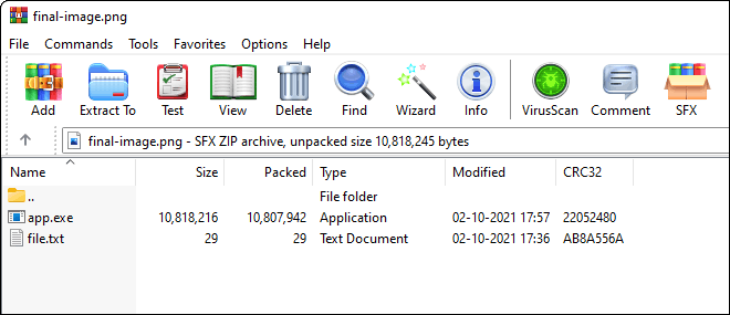 Open Final Image With Winrar To View Files Hidden Behind Image