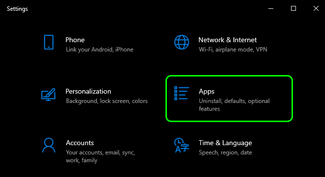 Open Settings And Select Apps