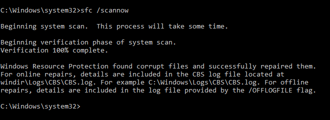 Run Sfc Command To Fix Corrupt File Issues In Windows 10