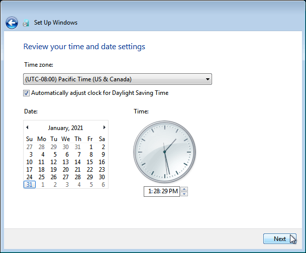 Set Time And Date Settings In Windows 7