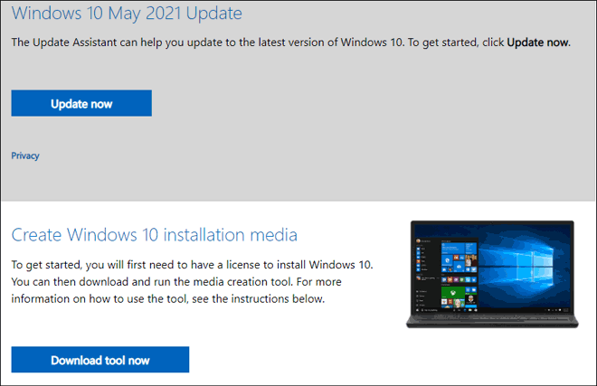 Windows 10 Iso Download Page Media Creation Tool Link
