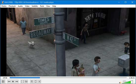 open vlc player and play your favorite video