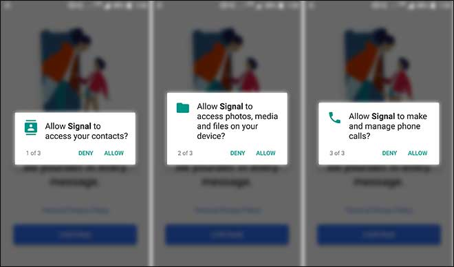 Allow Signal Messenger To Access Your Contacts Media And Phone Calls