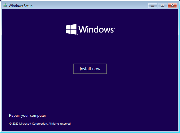 Click Install Now To Start Installing Windows 10