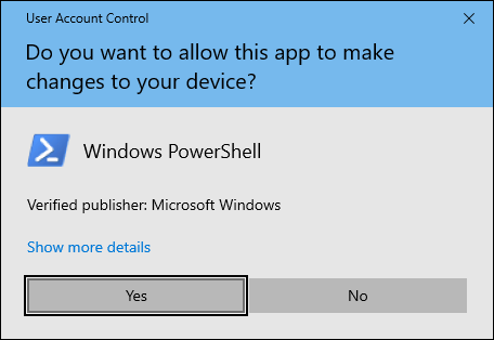 Click On Yes When Uac Prompt Appears