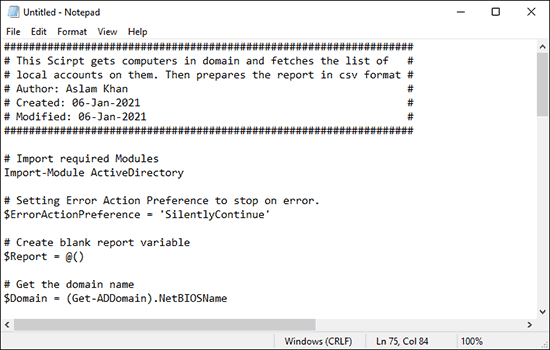 Copy And Paste Script Into Notepad