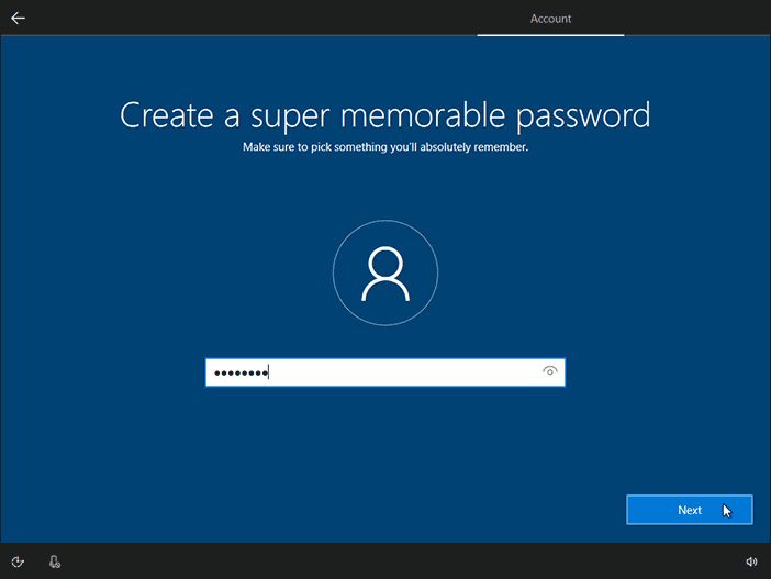 Create Password For Newly Created User