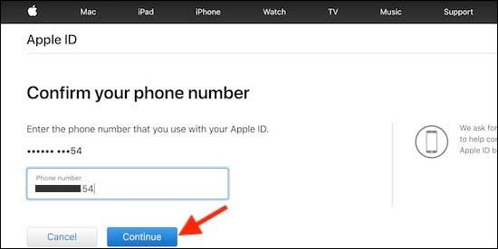 Enter Your Mobile Number To Unlock Your Locked Or Disabled Apple Id