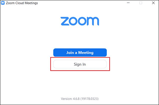 Open Zoom App On Your Computer And Click On Sign In - Use Zoom for video conferencing