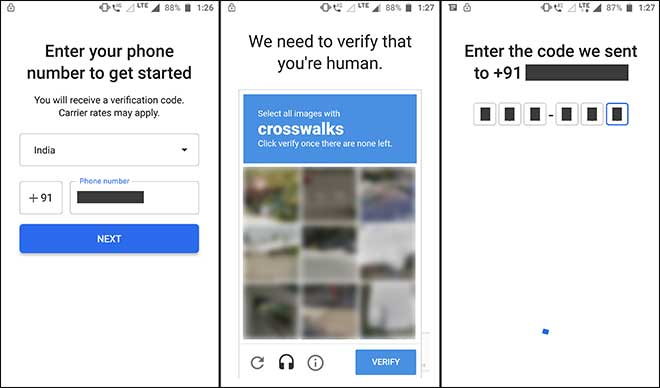 Provide Your Mobile Number Solve Human Verification Captcha And Enter Verification Code Received Via Message