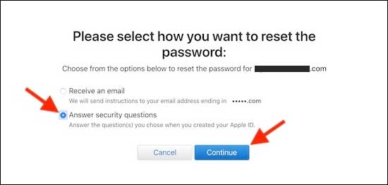 Reset Your Apple Id Password By Answering Security Questions