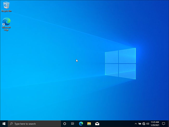 Windows 10 Clean Install Successfully Installed