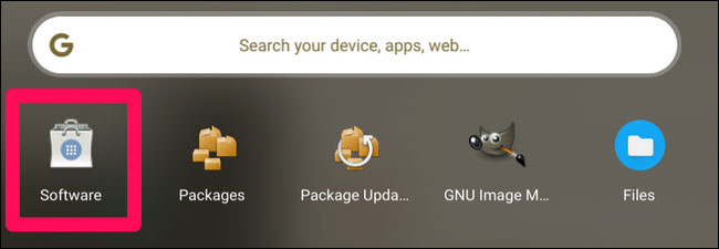Launch Software Center From App Drawer In Chrome Os