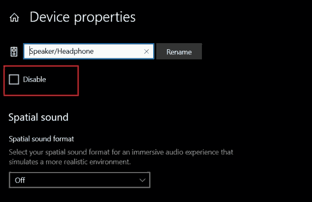 Make Sure Your Headphone Device Is Not Disabled in Windows 10