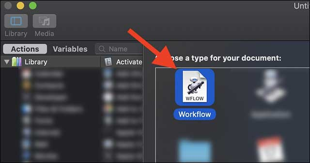 Launch Automator And Open A Workflow And Modify It As Per Your Requirements