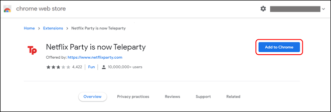 Install Teleparty Or Netflix Party Extension On Chrome Or Edge Browser