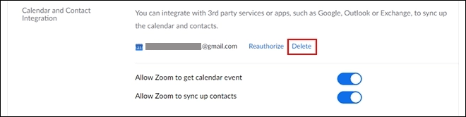 Remove Authentication Tokens And Calendar Integrations