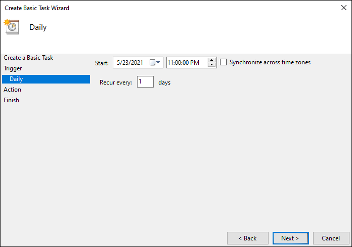 Set The Time To Schedule Automatic Shutdown In Windows 10