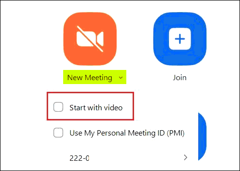 Start Zoom Meeting Without Video