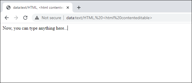 Use Web Browser As Notepad - Computer Tricks