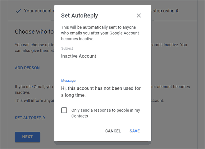 Set AutoReply to incoming mails