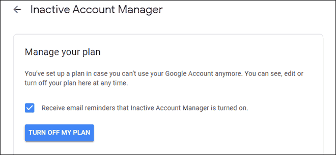 Turn Off Auto Delete Google Account Plan From Inactive Account Manager