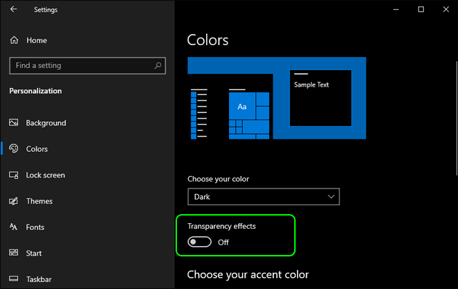 Disable Transparency Effects In Windows 10 To Improve Performance And Make It Fast