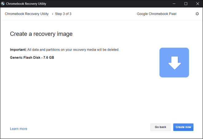Click Create Now To Start Creating Chromebook Recovery Utility To Fix Chrome Os Is Missing Or Damaged Error